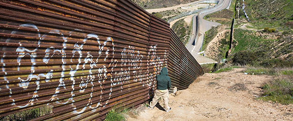 On the U.S.-Mexico border in Tijuana, Mexico.
